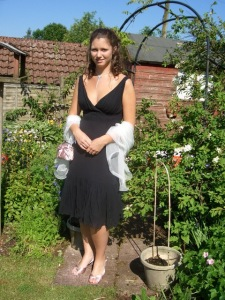 Hannah dressed for her Prom 2007, age 17