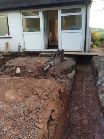 Trench to back door