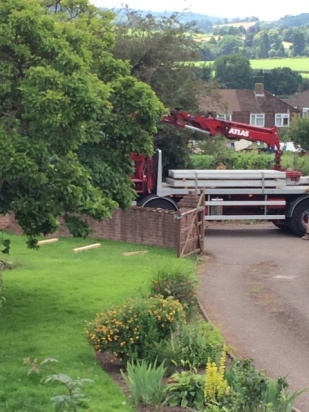 Block and beam delivery for floor