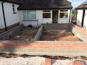 Brick work before block and beam 2