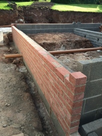 Brick work before block and beam 5