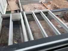 Installation of block and beam 2