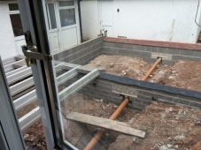 Installation of block and beam 3