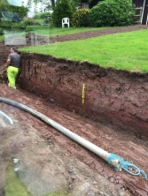 Pipes laid to pump concrete 3