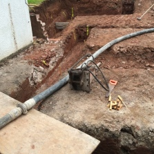 Pipes laid to pump concrete