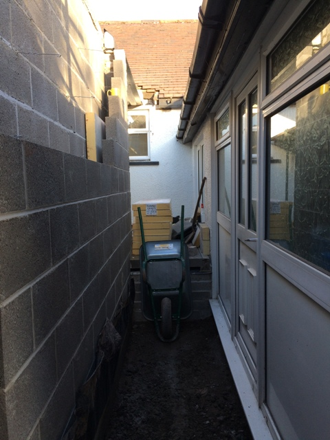 New entrance to kitchen from utility room