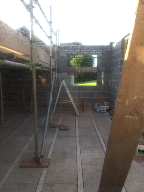 View to new kitchen window position