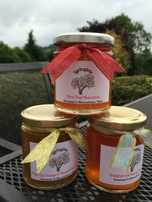 Three types of marmalades