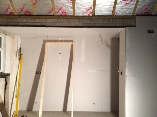 double-plasterboarding-under-lintel