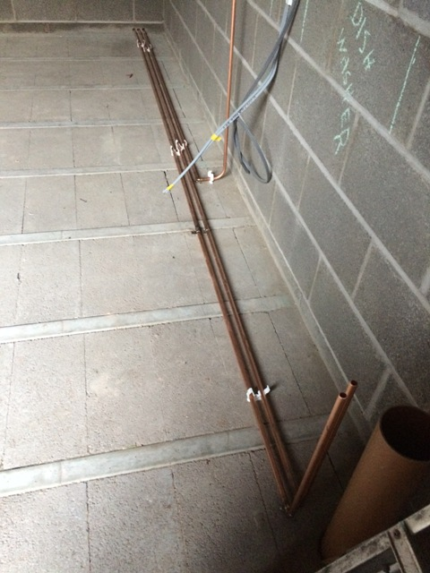 new-pipework-for-hot-and-cold-water-to-new-kitchen-and-gas-to-gas-cooker-partly-installed