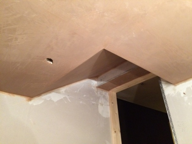 sloping-ceiling-to-new-kitchen-plastered