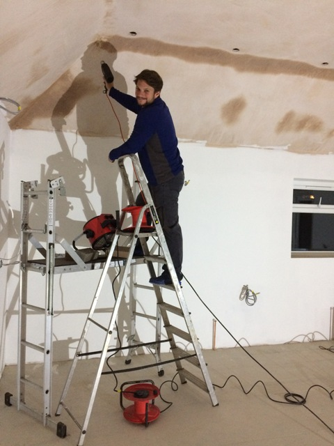 wills-helping-out-drying-the-plaster-on-ceiling-ready-for-painting
