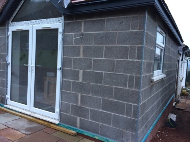 battening-and-metal-strips-now-in-place-for-rough-casting-of-bricks-on-new-extension