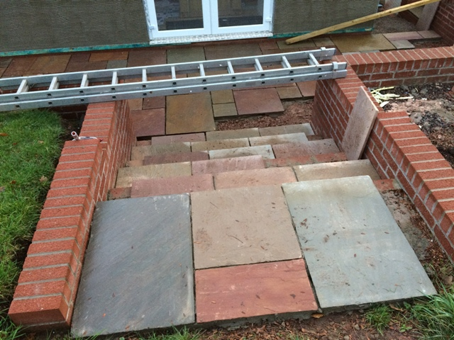main-steps-to-garden-from-new-kitchen-partially-laid