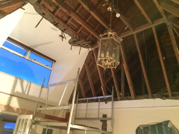ceiling-removed-from-old-vaulted-hallway