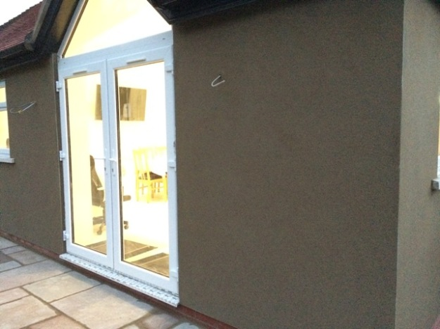 roughcast outside patio doors of kitchen - Outside Patio Doors