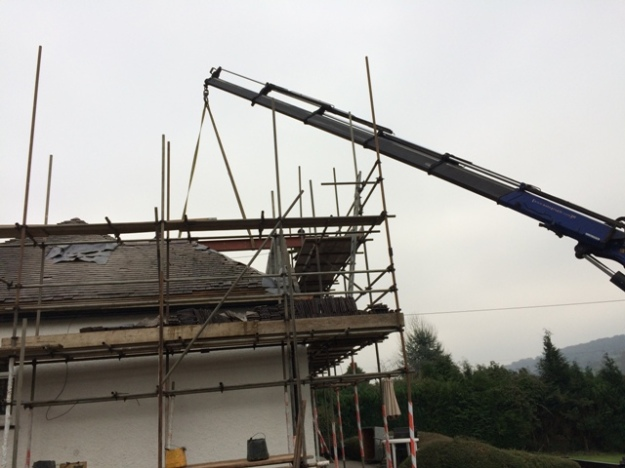 second beam in position