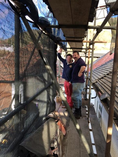 on-scaffolding