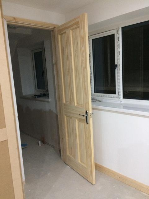 Bathroom door now with handles fitted