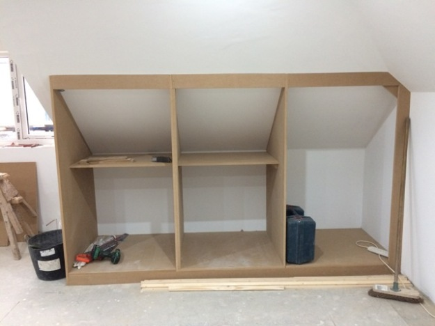 Cupboards under construction