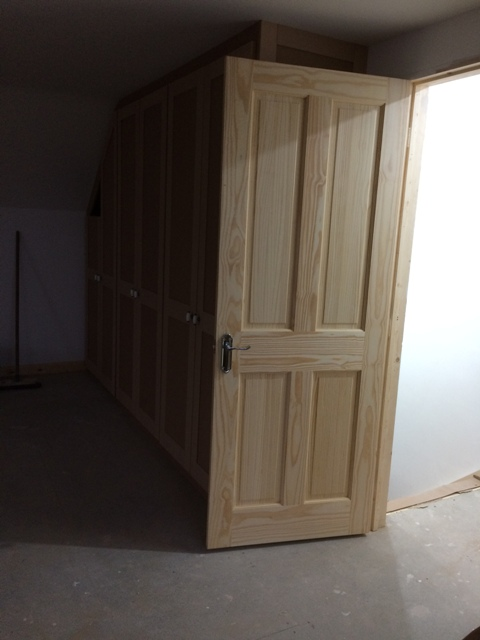Door to new bedroom with handles