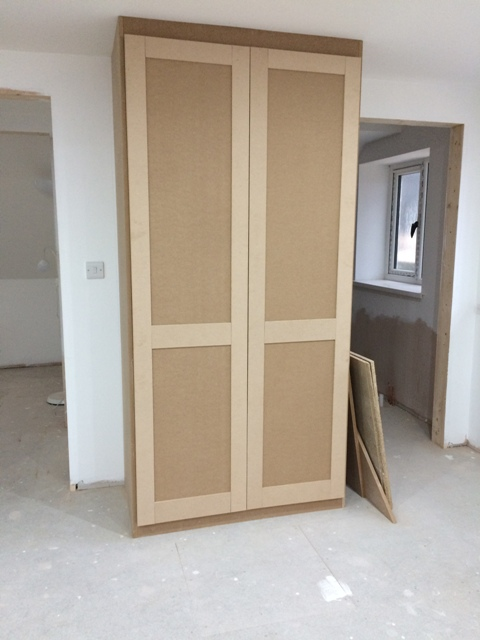 Double wardrobe under construction
