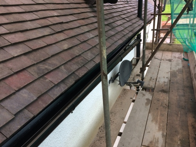 guttering on the right hand side