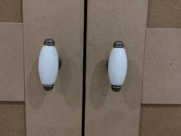 Handles for newly built fitted wardrobes and cupboards