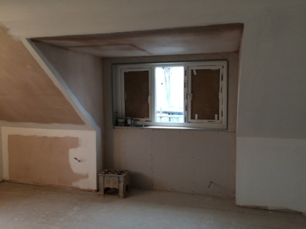 new dormer window from inside