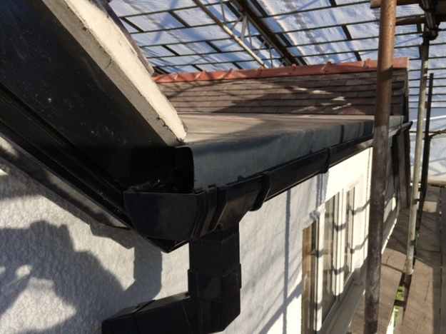 New guttering and down pipes from flat roof