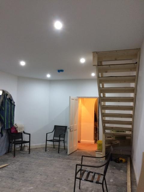 New sun lounge - we now have light, thanks to Joe, Ballan Electrical