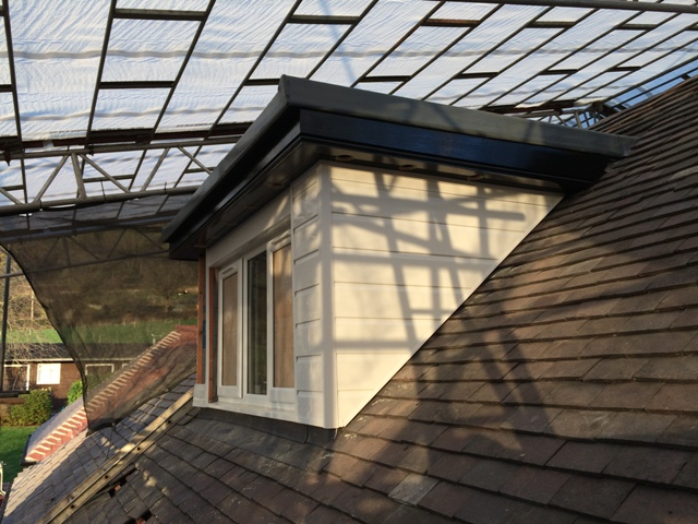 Newly clad dormer and vent holes created in soffets