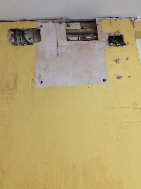 Old alarm wires removed, fuse switch removed and general tidy up of all wiring in utility room