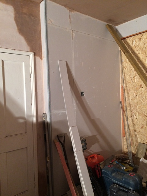 Opposite side of sun lounge, plasterboard in place