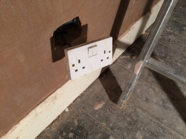Plug socket in new sun lounge