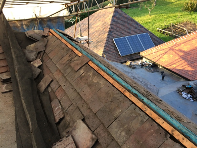 Ridge tiles to be completed here