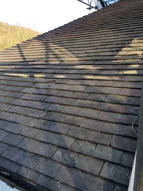 roof tiled over old kitchen