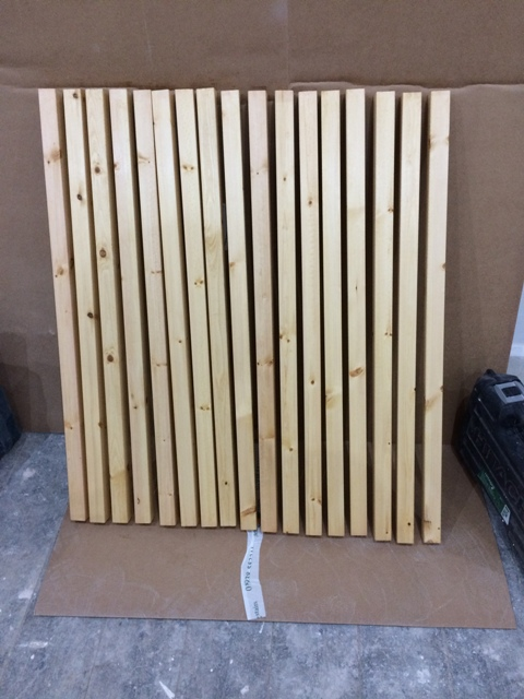 Spindles for staircase treated for the first time with a tinted oil called
