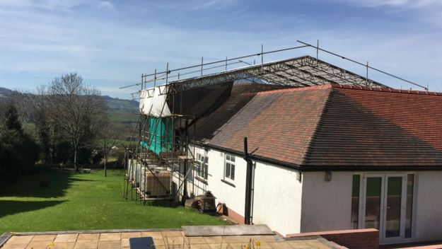 Springdale nearly finished still with scaffolding