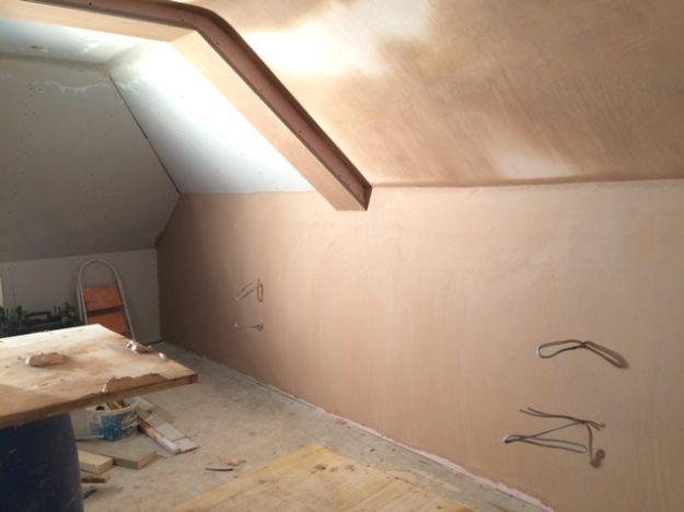 view-across-to-dormer-side-of-bedroom-and-plastering-on-this-side-of-bedroom-and-around-beam