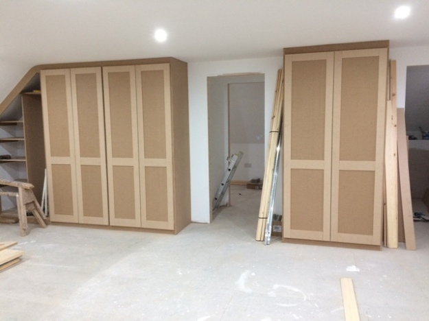 View of all wardrobes