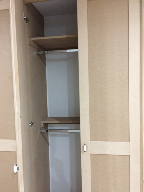 Wardrobe, one door open