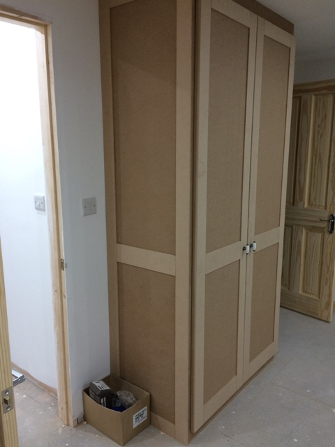 Wardrobe with panelling showing on sides and fronts - looks so smart