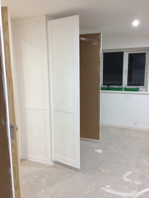 another coat of emulsion on the wardrobe doors