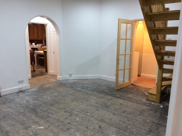 Sun lounge ready for carpet laying picture 4 view to old kitchen