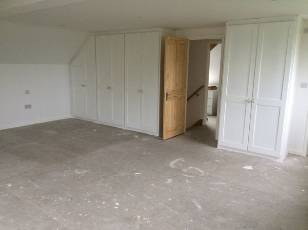 Upstairs bedroom ready for carpet