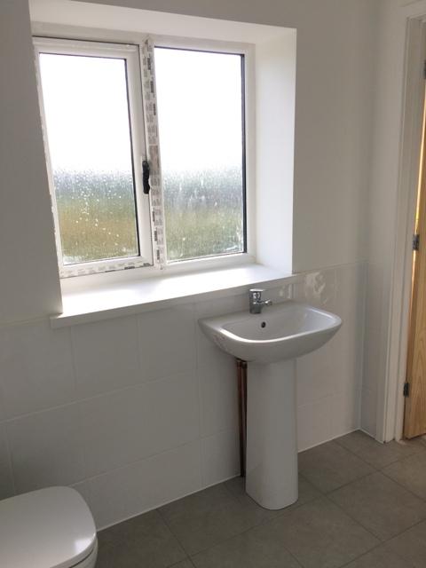 view to bathroom window