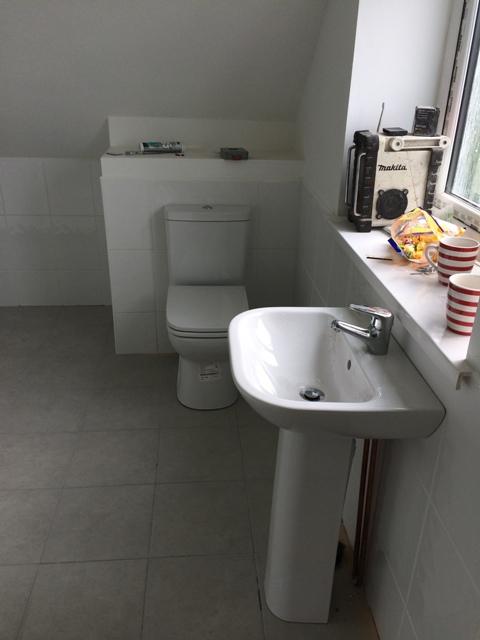 Wash basin installed