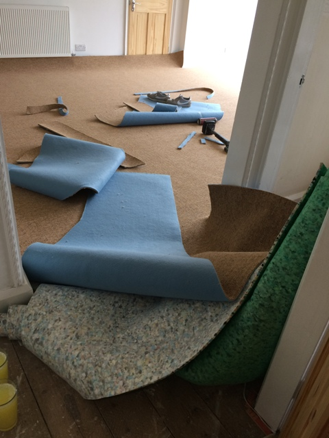 Carpet fitting under way