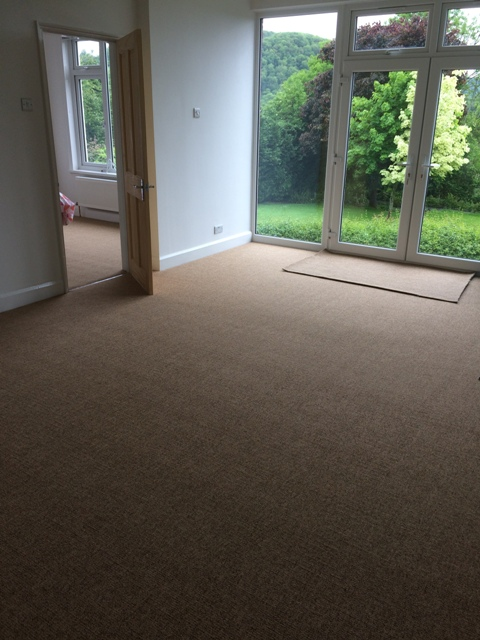 New carpet in the sun lounge